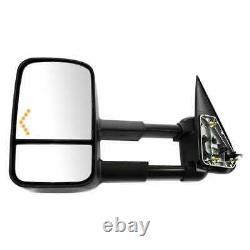 Power Heated Tow LED Signal Side Mirror Pair for 2003-2006 Sierra Silverado 1500
