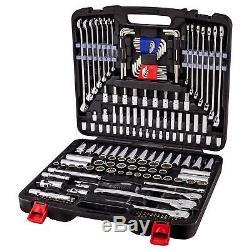 Powerbuilt 200 Piece Master Auto Mechanic's Service Tool Set 642472