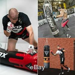 RDX Punching Bag Set Unfilled Boxing Muay Thai Training Mitts MMA Kickboxing
