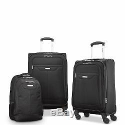 Samsonite Tenacity 3 Piece Luggage Set Black, Blue, 25, 21, Backpack Lu