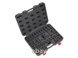 Sealey Air Impact Wrench Socket Set 34 Piece 1/2 Square Drive Metric 10 32mm