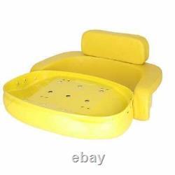 Seat 3-Piece Set Vinyl Yellow Compatible with John Deere 7700 3020 4230 4020
