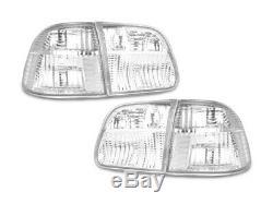 Ship from USA JDM All CLEAR 4pc Tail Light For 1999-2000 Honda Civic 4D Sedan EK