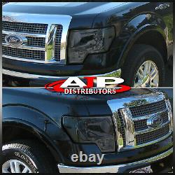 Smoked Lens Replacement Head Lights Lamps Left Right For 2009-2014 Ford F150