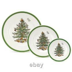 Spode Christmas Tree 12 Piece Set (4 x Dinner Plates, Salad Plates, Side Plates)