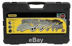 Stanley 201 Piece Mechanics Mixed Tools Set, Wrenches, Sockets, Ratchet Tool Kit