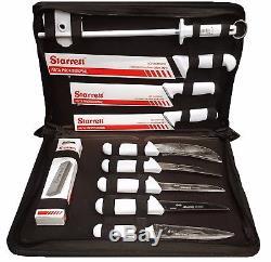 Starrett Professional Butchers Knife Set In Case 11 Piece BKK-11W