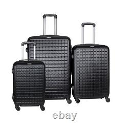 Suitcase Lightweight Luggage With Spinner Wheels, 3-Piece Set (20/24/28) NEW