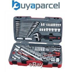Teng Tools 127 Piece Professional Socket Set Tool Kit 1/4 1/2 3/8 Drive TM127-P