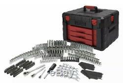 Tool Set with Storage Case 320-Piece Mechanics Sockets Ratchets Repair Tool New