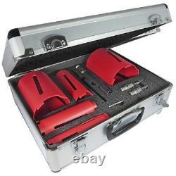 Toolpak Force-X 5-Piece Dry Diamond Core Drill Bit Kit Set & Case