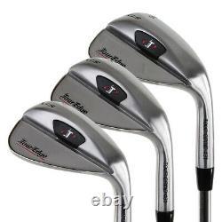 Tour Edge Golf TGS 3-Piece Wedge Set (52/56/60) Approach, Sand & Lob NEW