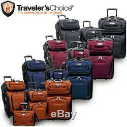 Traveler Choice Amsterdam Gray 4-Piece Expandable Wheel Luggage Suitcase Bag Set