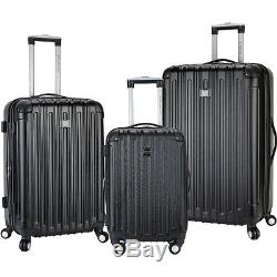 Travelers Club Luggage Madison 3 Piece 2-in-1 Hardside Luggage Set NEW