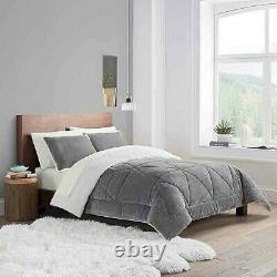UGG Reversible 3-Piece King Comforter Set in Seal Grey
