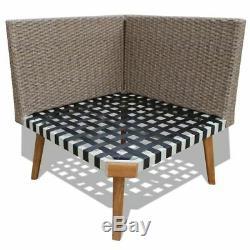 VidaXL 4 Piece Garden Sofa Set Poly Rattan Gray Outdoor Patio Lounger Seat