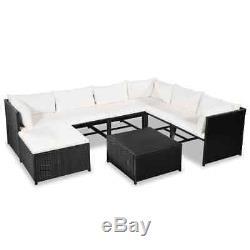 VidaXL Garden Sofa Set 24 Pieces Poly Rattan Wicker Outdoor Lounge Furniture