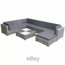 VidaXL Garden Sofa Set 24 Pieces Rattan Patio Outdoor Lounging Furniture Seat