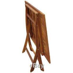 VidaXL Outdoor Dining Set 5 Piece Folding Solid Eucalyptus Wood Garden Patio