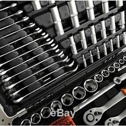 VonHaus 215 Piece Socket Set 1/4, 3/8, 1/2 Ratchets, Spanners, Torx