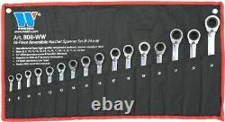 Welzh Werkzeug 16-Piece Reversible Ratchet Spanner Wrench Set 72 Teeth 8-24mm