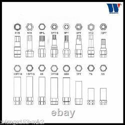 Werkzeug Master Wheel Locking Nut Key Removal Set 16 Piece 4122