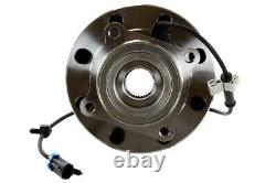 Wheel Hub Bearing Assembly Front Pair 2 for Silverado 2500 HD H2 8 Lug with ABS