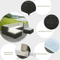 Wicker Outdoor Patio Furniture Sofa Set 5 Piece
