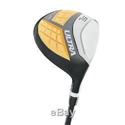 Wilson Ultra Men's 13-Piece, Left-Handed Golf Club Set with Bag, Black & Yellow