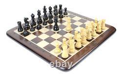 Wooden Chess Set Pieces Ebony Wood Galaxy Staunton King Size 3 + Chess Board