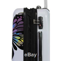 World Traveler Butterfly 2-piece Hardside Carry-on Spinner Luggage Set