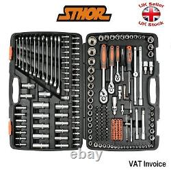 Yato Sthor 58691 216 Piece 1/2 1/4 3/8 Ratcheting Socket Spanner Bit Set