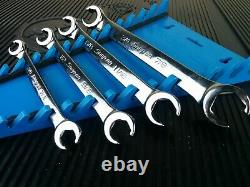 #aj579 NEW! 2019 Snap-On 4 Piece SAE Double Flare Nut 6 Point Line Wrench Set